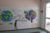 Décors réalisés par nos élèves et leur professeur d'Arts Plastiques- Institut de l'Assomption