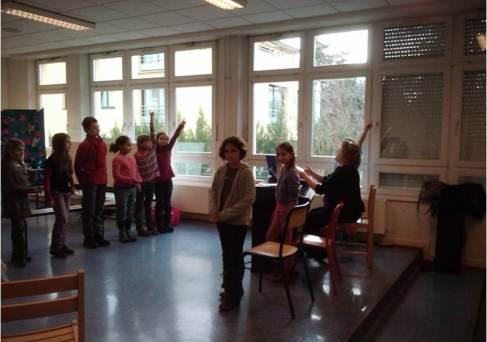 Chorale - CE / CM - Mme ESTATICO - Féria - L'Institut de l'Assomption à Colmar (Haut-Rhin, Alsace)